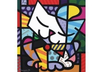 Romero Britto - Cat - Wall Street