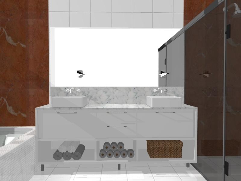 Gabinete Para Banheiro Balcao de banheiro planejado -> Balcao Banheiro Planejado